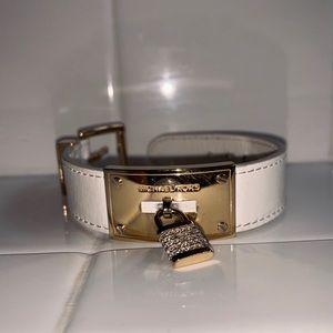 Michael Kors white & gold locking bracelet!